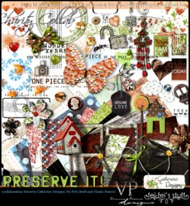 After Five Designs: Preserve It charity kit by Catherine Designs, Fei Fei's stuff and Vinnie Pearce