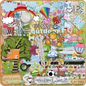 Gotta Pixel: Play Park collab by Miss Tiina, Crisdam Designs, Lorie M Designs