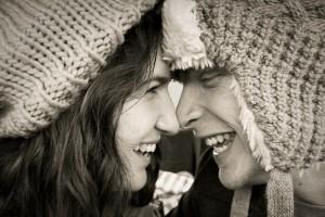 love couple winter christmas