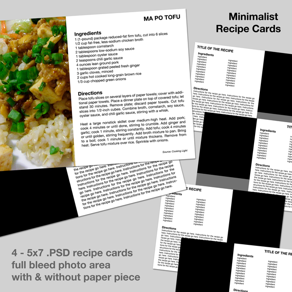 Minimalist recipe scrapping with templates simple scrapper download the free templates forumfinder Gallery