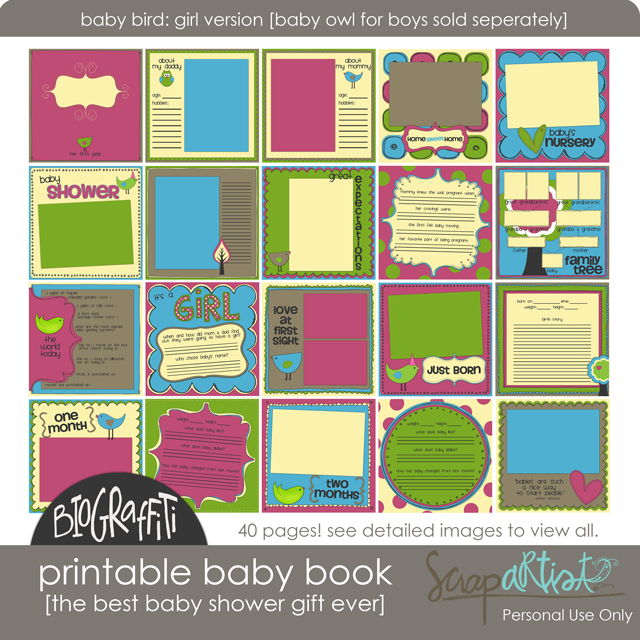 Printable Baby Book Giveaway - Simple Scrapper