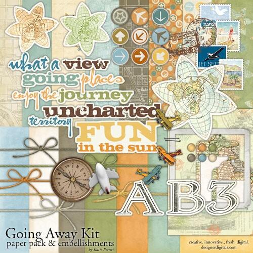 World Travel Scrapbook Kit
