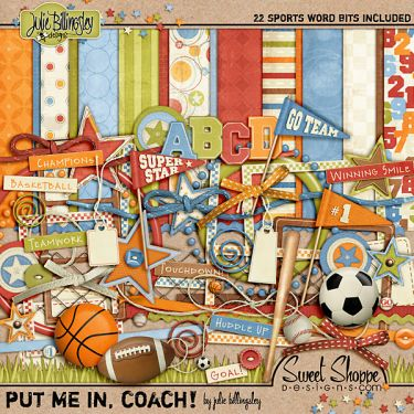 Take Me Out to the Ball Game Scrapbook Kit