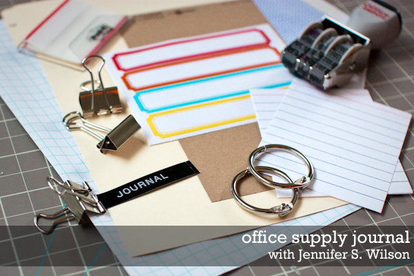 Create A Journal With Office Supplies