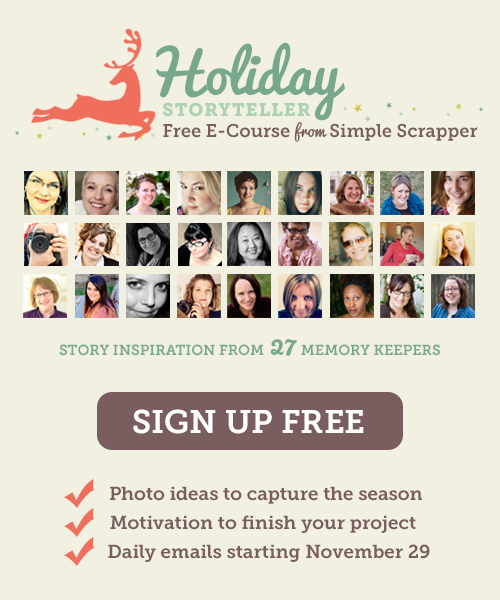 Free Holiday E-Course for Scrapbookers from Simple Scrapper