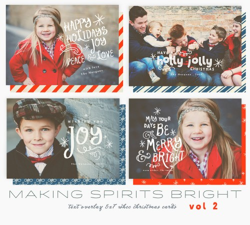 Making Spirits Bright templates from Oh Snap