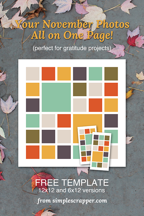 Free Instagram Template for Gratitude Projects from Simple Scrapper