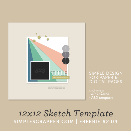 12x12 Sketch Template | Simple Scrapper Freebie #2.04
