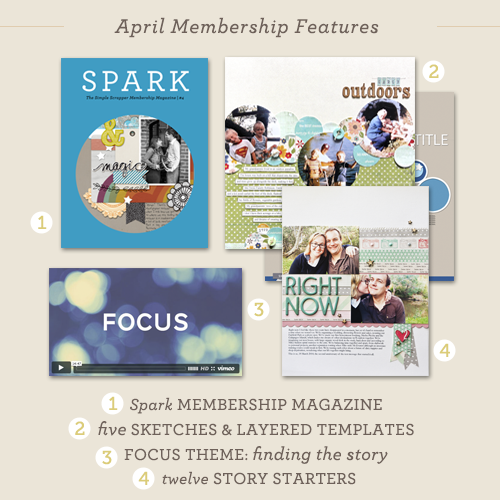 April Premium Membership at Simple Scrapper
