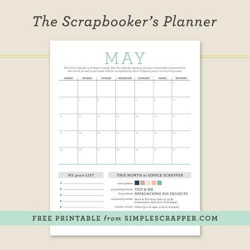 Free Scrapbooker's Planner from Simple Scrapper