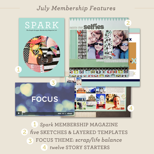 July Membership Features at Simple Scrapper