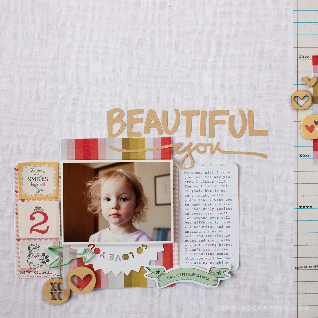 Create Page Titles Easily with Cut Files | Simple Scrapbook Ideas