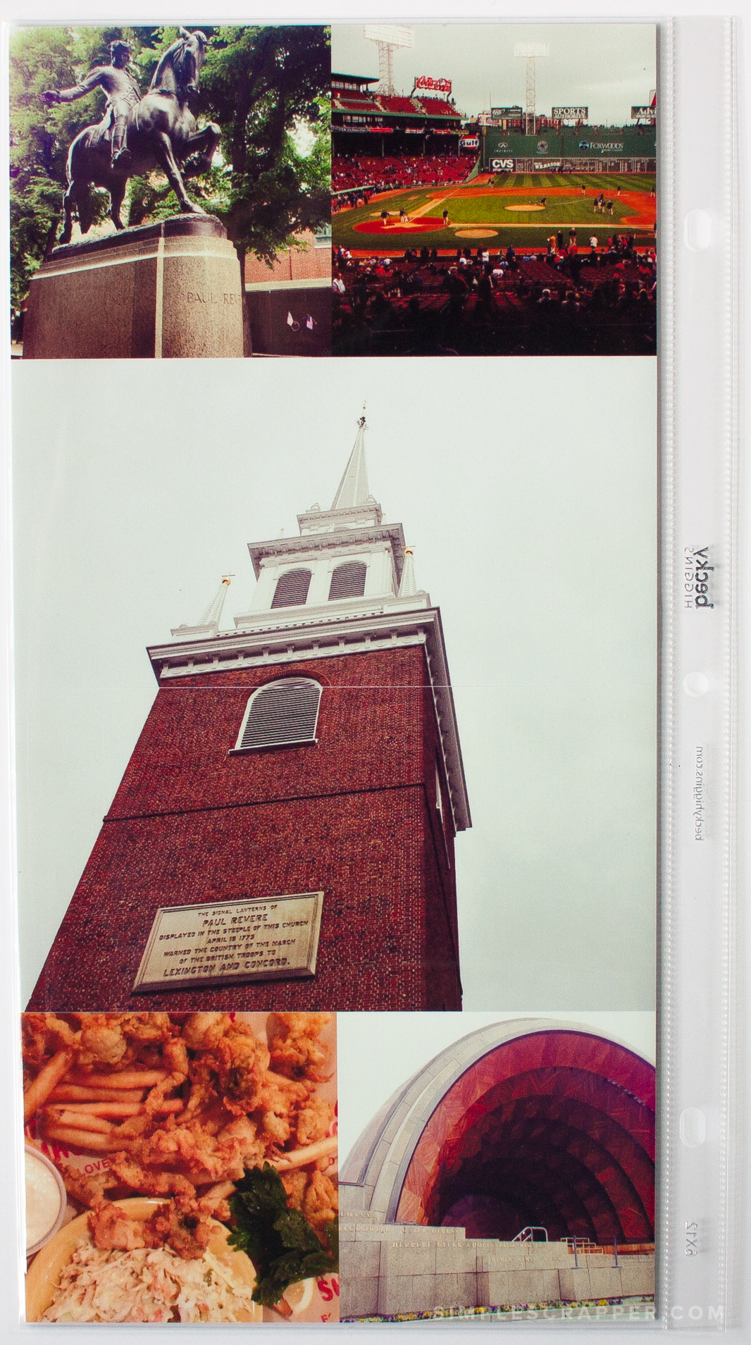 Our Boston Adventure in Photos | Simple Scrapbook Layout