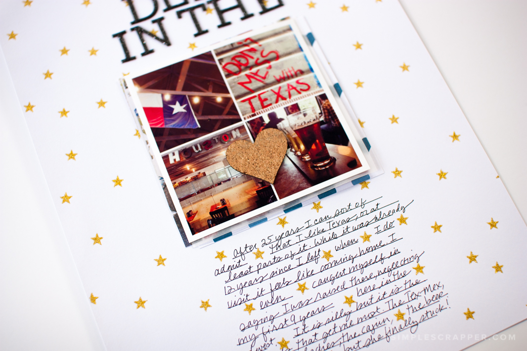 Deep in the Heart | Simple Scrapbook Layout