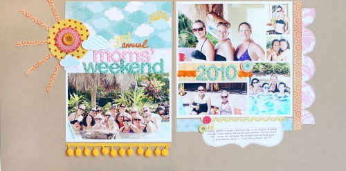 Annual Mom's Weekend by Kelly Noel, inspiring a sketch template for the Simple Scrapper membership