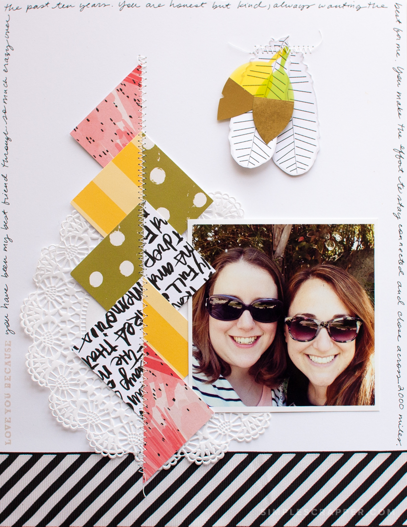 Love You Because | Simple Scrapbook Layout