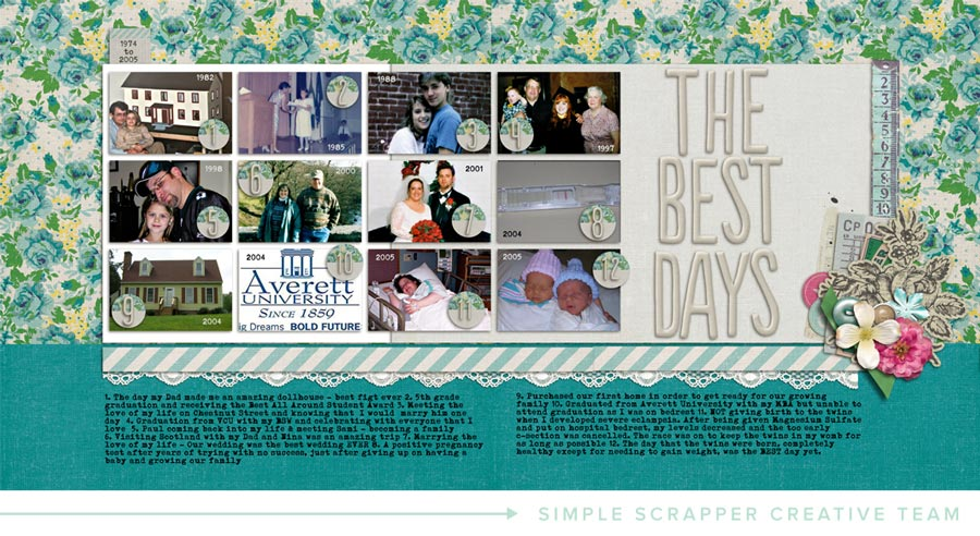 Layout by Amy Melniczenko for Simple Scrapper