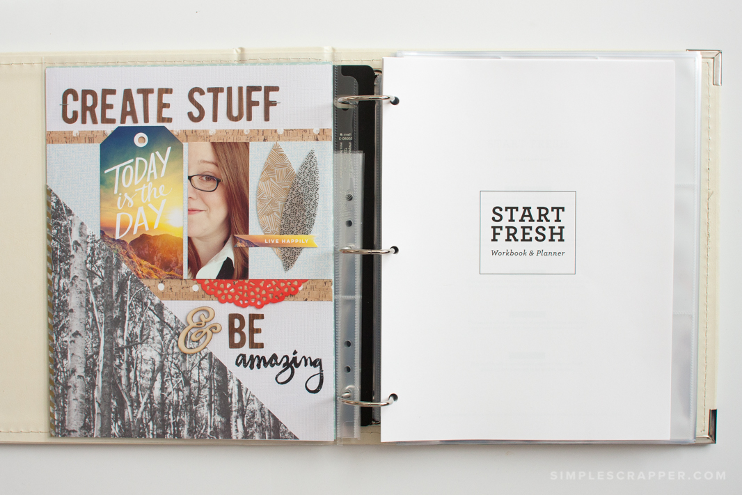 2015 Start Fresh workbook and planner for scrapbookers