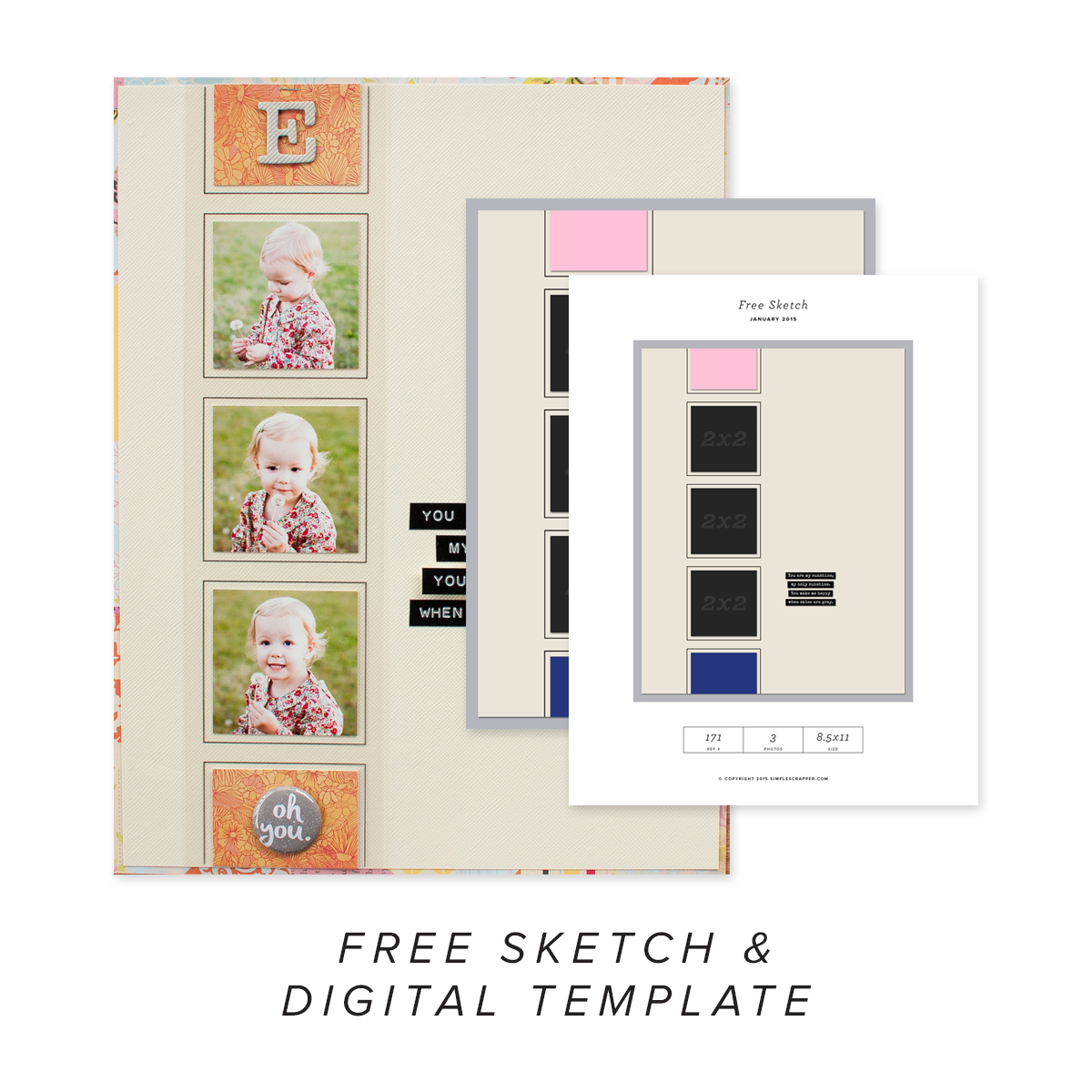 October Free Sketch & Template
