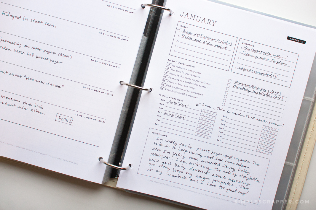 2015 planner update 1 simple scrapper
