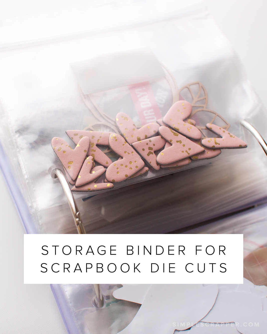 Storage Binder for Scrapbook Die Cuts