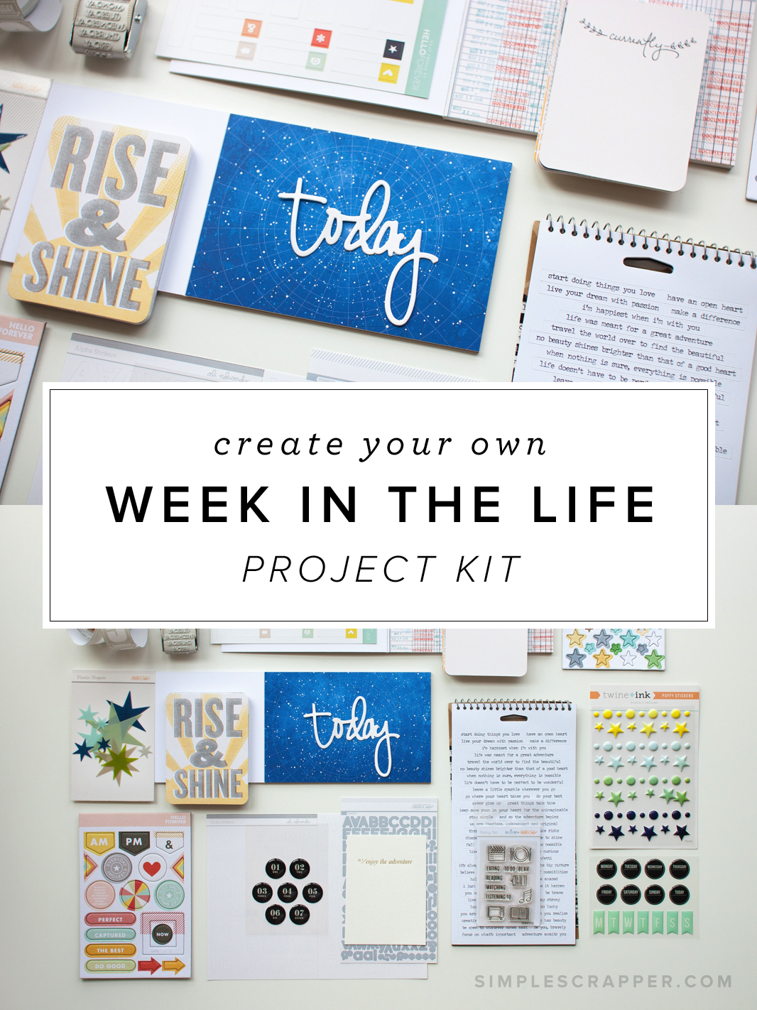How to create your own kit for Ali Edwards' Week in the Life