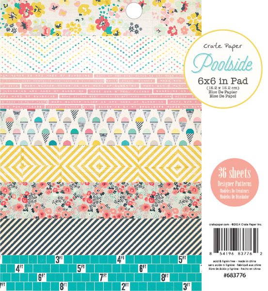 Crate Paper - Poolside Collection - 6x6 Paper Pad