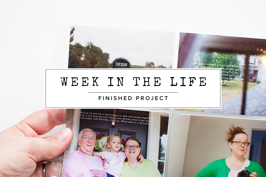 How to finish your Week in the Life project simply.