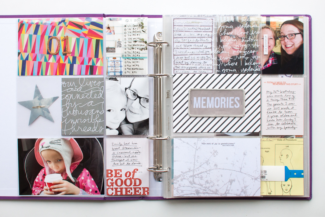 Scrapbooking the Year in 9x12