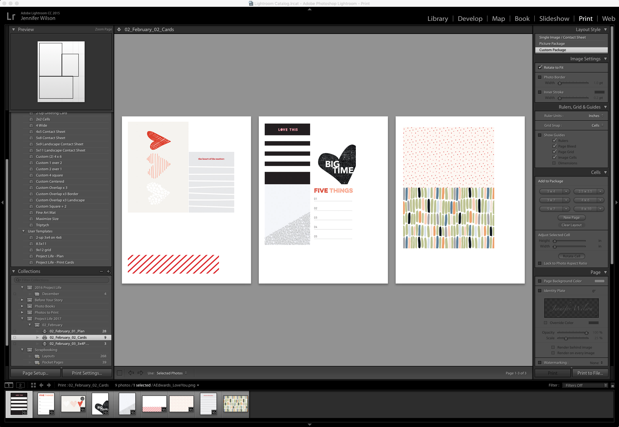 Download free templates for creating a hybrid Project Life spread using Lightroom and Photoshop.