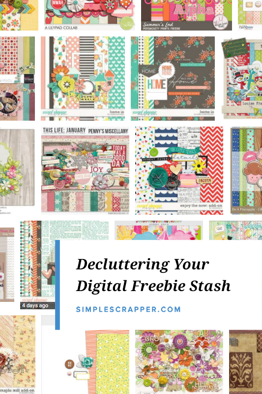 Learn new techniques for decluttering your digital freebies & scrapbook stash