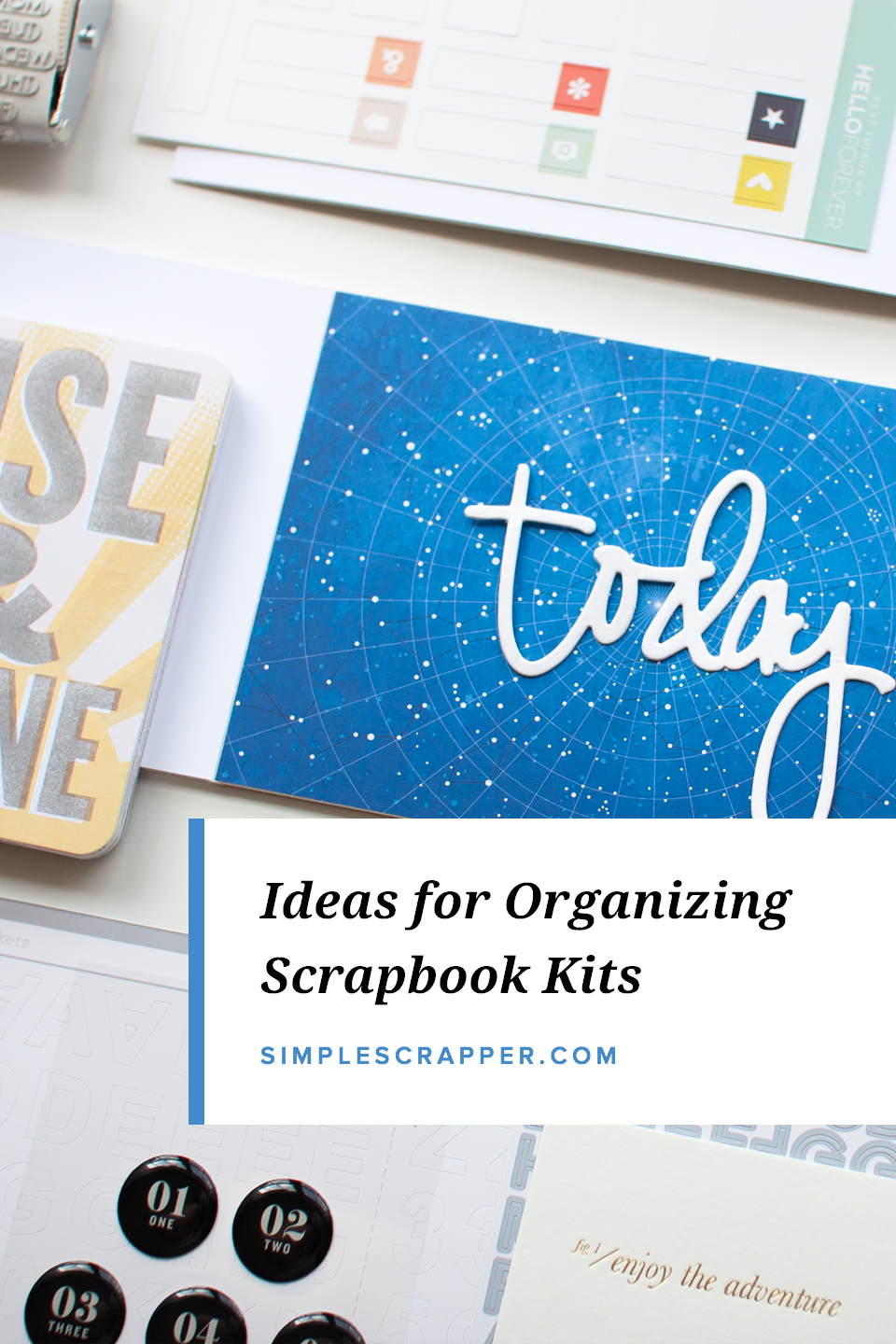 Whether you store paper scrapbook kits over the long time or just until you make a few things, finding the best storage solution for your needs can add ease to the creative process.