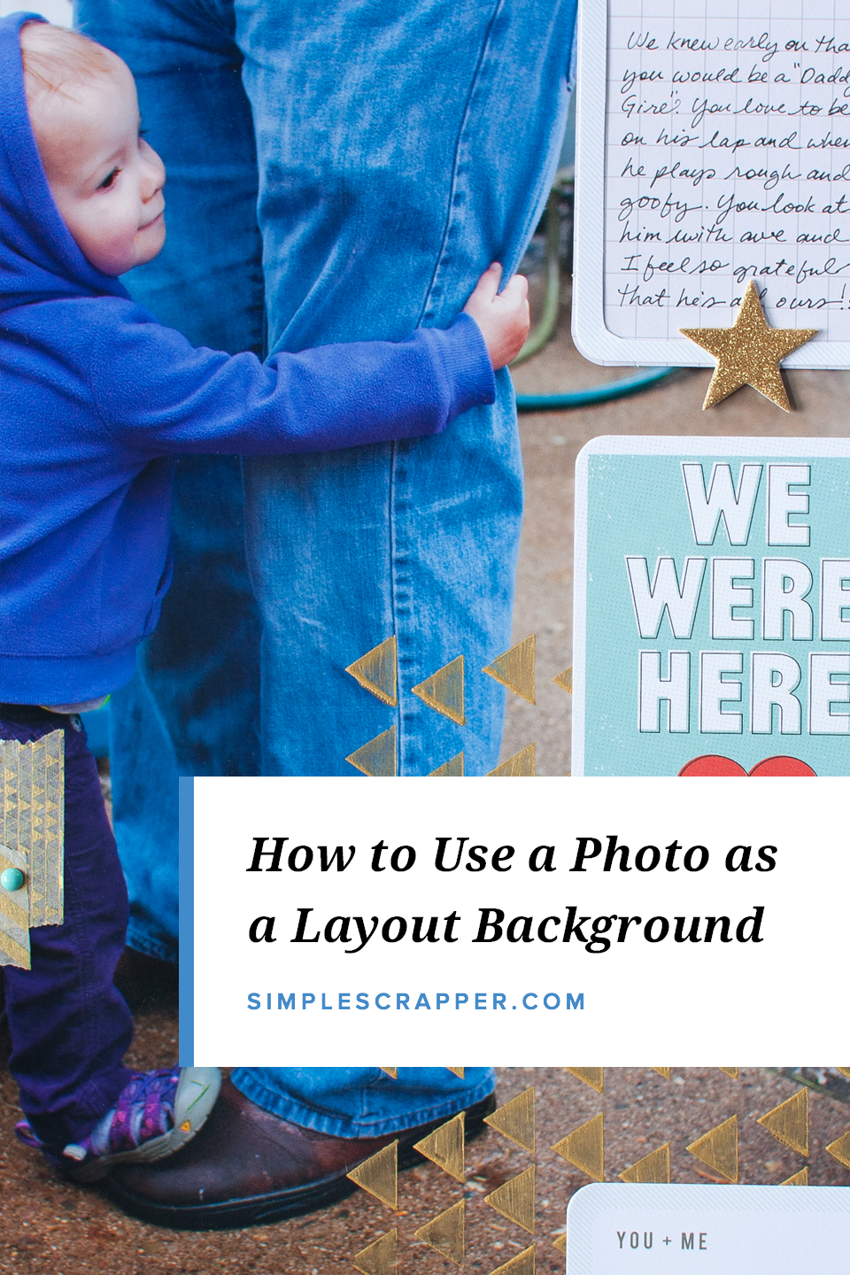 Using a Photo as the Background for a Scrapbook Page